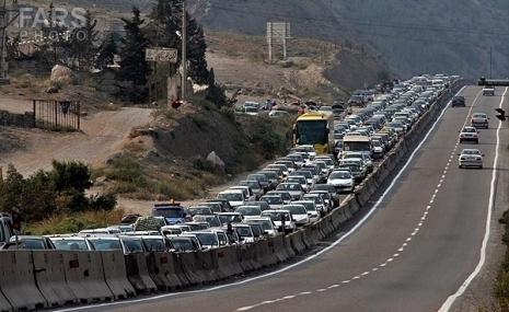 ترافیک در مسیرهای شمالی تهران سنگین است