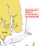 Supply vessel sinks in Singapore
