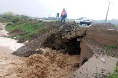 368 کیلومتر راه روستایی جنوب کرمان در سیل خسارت دید