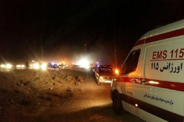 تصادف اتوبوس سبب مصدومیت 13نفر در البرز شد