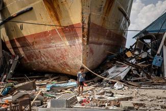 فاجعه بهجا مانده از سونامی اندونزی