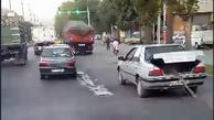 فیلم| حمل خطرناک بار با خودروی شخصی