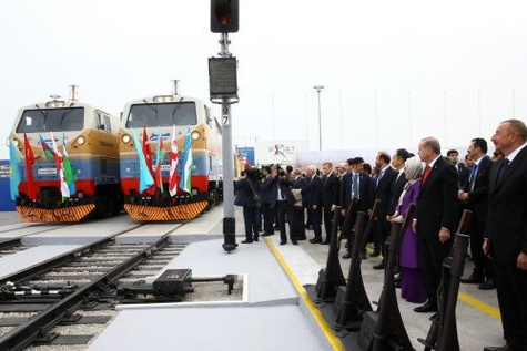 Leaders inaugurate Kars - Tbilisi - Baku railway