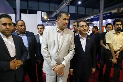 دومین بازدید وزیر راه و شهرسازی از هفتمین نمایشگاه بینالمللی حملونقل ریلی