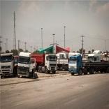 هجوم رانندگان کامیون به پایانه بار بندرعباس