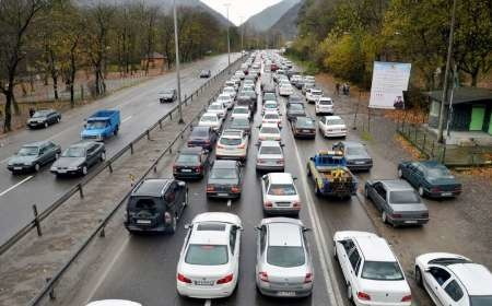 ترافیک راههای البرز سنگین شد