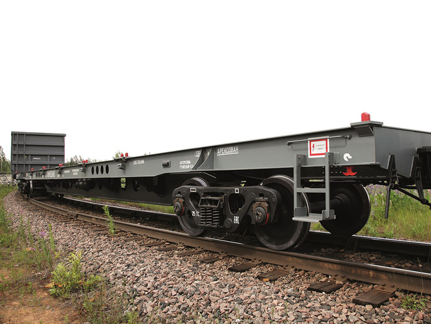 Wagons for heavy containers delivered