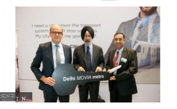 Bombardier delivers first MOVIA train for Delhi Metro