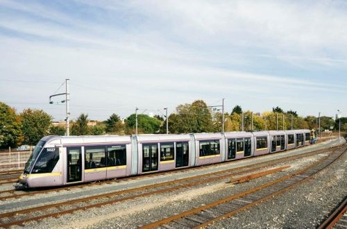 Dublin receives first 55m-long Citadis LRV