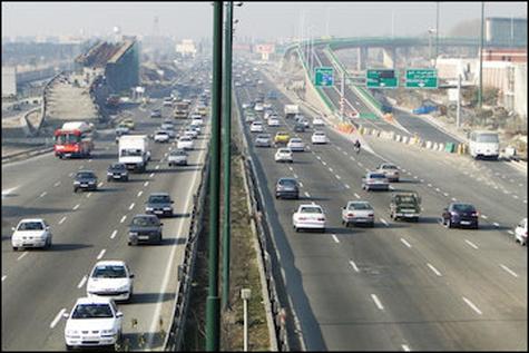 جدول وضعیت ترافیک لحظهای راههای اصلی و فرعی استان تهران -۱