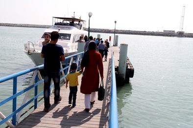 ترابری دریایی ۳۳۳ هزار نفر سفر در بنادر قشم در تعطیلات نیمه آبان