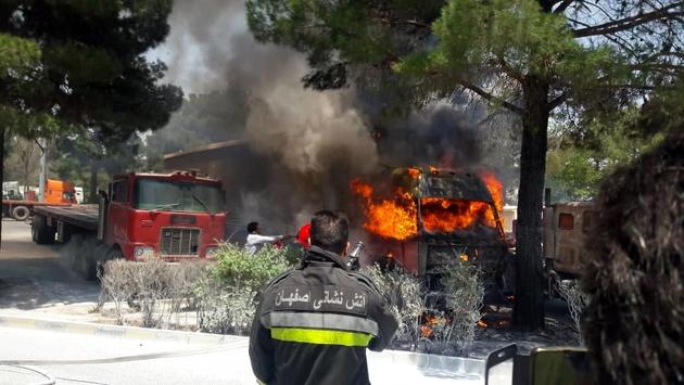 روایت یک شاهد عینی از حادثه آتش سوزی در پایانه بار اصفهان