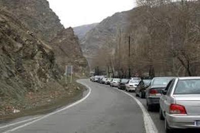 ترافیک پرحجم در جاده چالوس