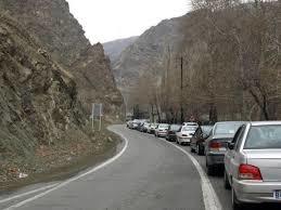 انسداد مسیر جنوب به شمال جاده چالوس و آزادراه تهران - شمال