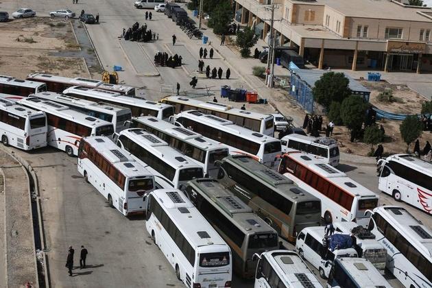 80 درصد اتوبوسها در خدمت زائران اربعین
