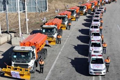 برگزاری مانور ترافیکی طرح زمستانی قزوین