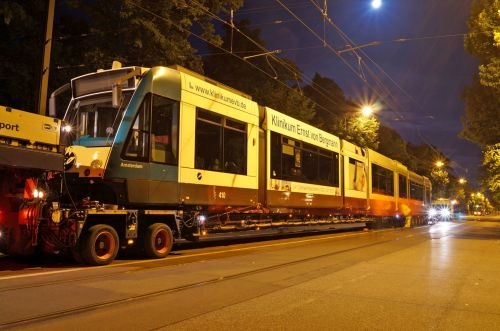 Potsdam receives first lengthened Combino LRV