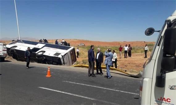 واژگونی اتوبوس اردبیل به تهران 39 مصدوم به جا گذاشت
