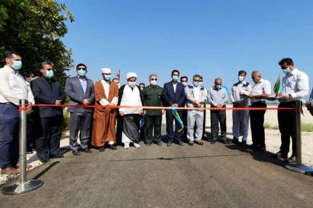 جاده رینگ امنیتی و ایمنی فرودگاه خارگ افتتاح شد