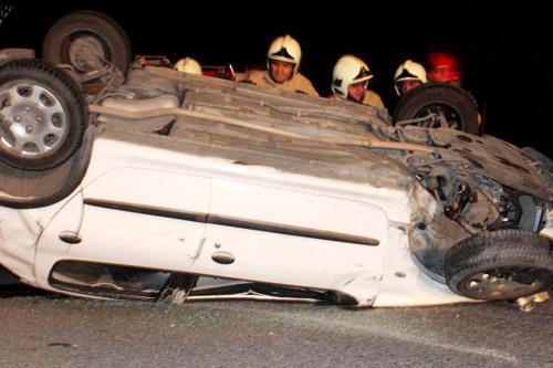 رتبه اول سمنان در واژگونی خودروها