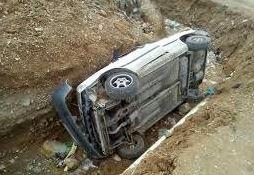 سقوط سرویس مدرسه از پل در آذربایجان غربی