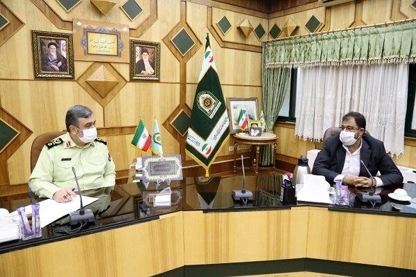 همکاری نیروی انتظامی و بهشت زهرا (س)در روزهای بحرانی شیوع کرونا