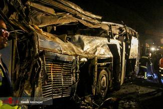 واژگونی اتوبوس در جاده سوادکوه مازندران با 14 کشته