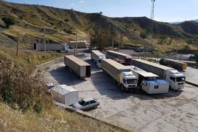 افزایش تردد ناوگان باری از مرز تمرچین به کردستان عراق