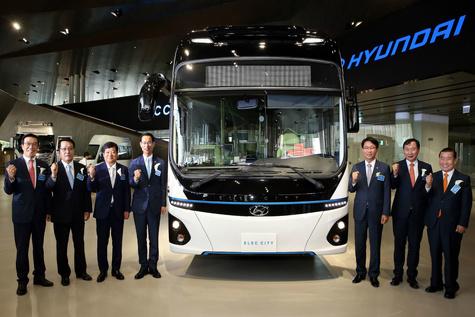 Elec City، نخستین اتوبوس برقی هیوندای، رونمایی شد