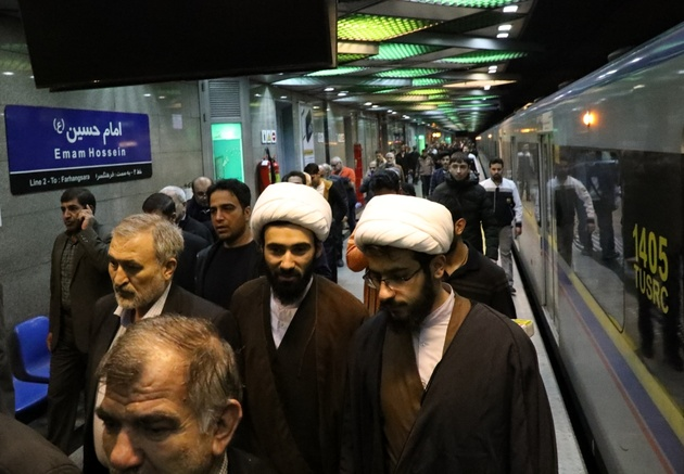 سرویسدهی رایگان مترو از ایستگاه امام حسین