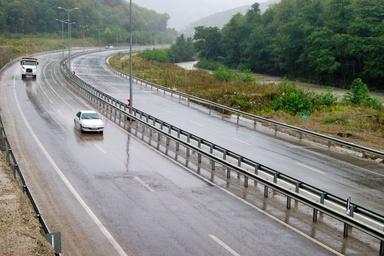 ترافیک عادی و روان در جاده های مازندران