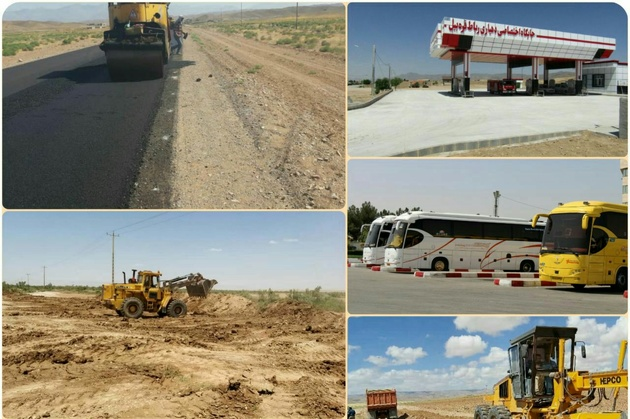 افتتاح ۳۸ پروژه راهداری  و حمل و نقل جاده ای در خراسان شمالی