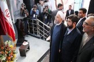 افتتاح سامانه کنترل ترافیک راه آهن جنوب غرب کشور با حضور روحانی و آخوندی