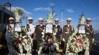 (تصاویر) مراسم استقبال از ورود پیکر شهدای سانچی