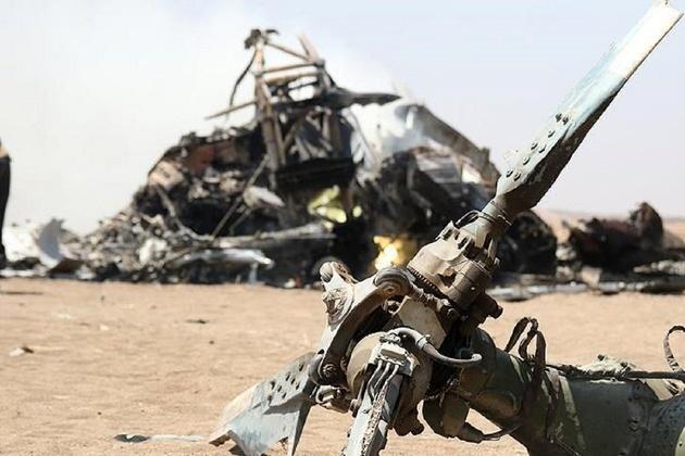 سقوط بالگرد نظامی چهار کشته برجای گذاشت