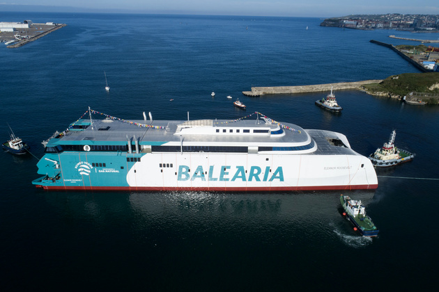 Baleària launches an innovative fast ferry, the first in the world with natural gas internal combustion engines