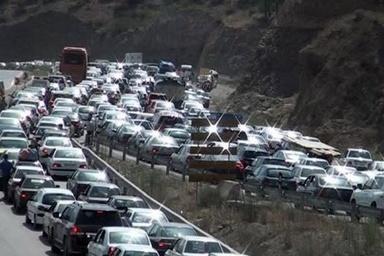 ترافیک شدید جادههای کرمانشاه در مسیر بازگشت زائران اربعین