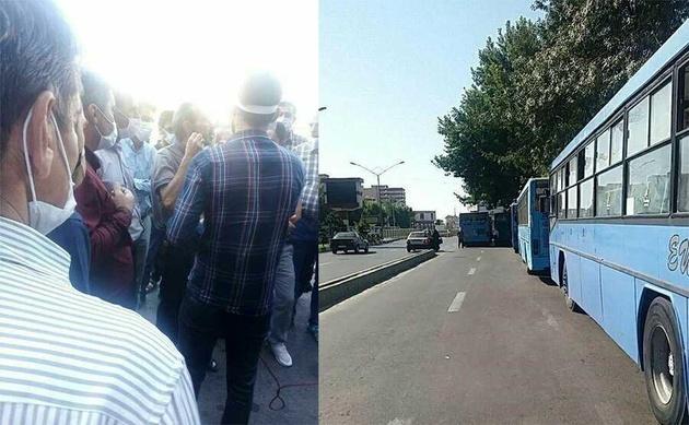 اعتصاب رانندگان اتوبوس حمل و نقل عمومی این شهر را فلج کرد