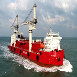 World's first self-unloading transshipment delivered