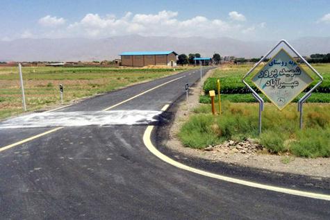اتمام عملیات بهسازی و آسفالت راههای روستایی در نیشابور