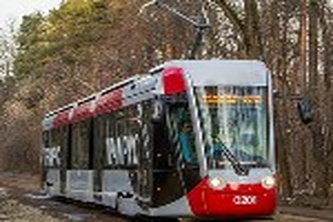 TramRus tram coming to St Petersburg