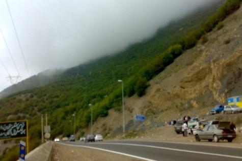 لغزندگی جاده های خراسان رضوی براثر بارش باران