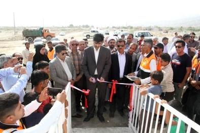 افتتاح پل عابر پیاده روستای درگور شهرستان بندر خمیر