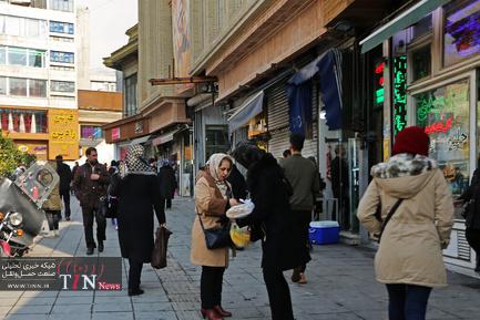 میدان تجریش بعد از انتشار شایعه وجود بسته مشکوک