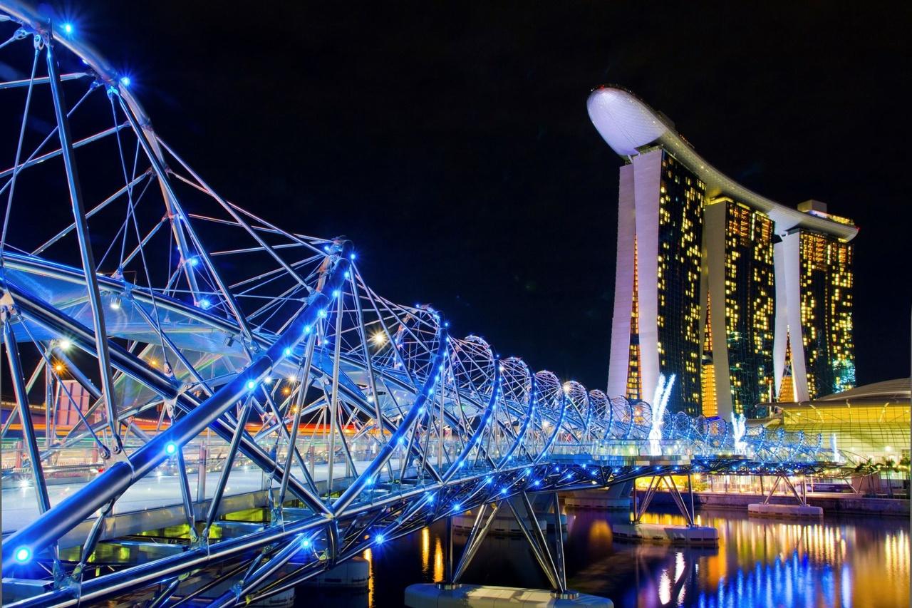 پل هلیکس (Helix Bridge) - سنگاپور