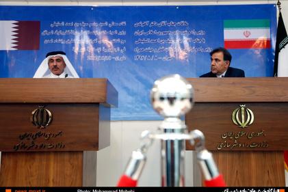 گزارش تصویری/  دیدار وزیر راه و شهرسازی با وزیر حمل و نقل و ارتباطات قطر