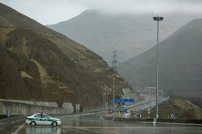 تمدید انسداد آزادراه تهران-شمال تا پایان روز سوم آبان