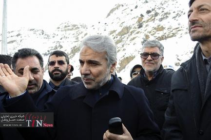 بازید نوبخت از اتوبان تهران-شمال