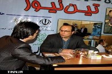 ◄گزارش تصویری / حضور مدیر روابط عمومی فرازتیما در غرفه تین نیوز