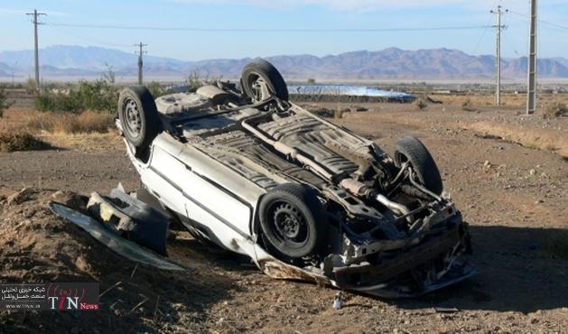 حادثه واژگونی خودرویی در جاده تبریز – آذرشهر ۱ کشته به همراه داشت